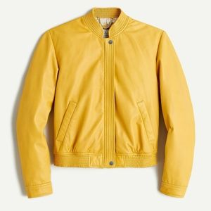 New JCREW Collection Size S Leather Aviator Jacket